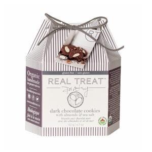 Real Treat Artisan Cookies - Dark Chocolate Almond with Sea Salt *gluten-free 132g -Gift Box