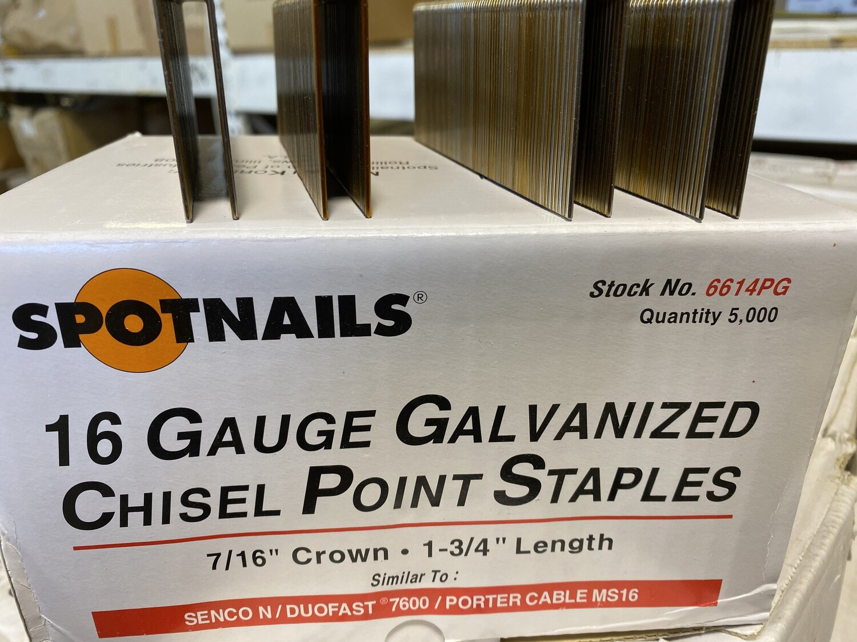 "7/16"" x 1 ¾"" Crown Staples -Galvanized"