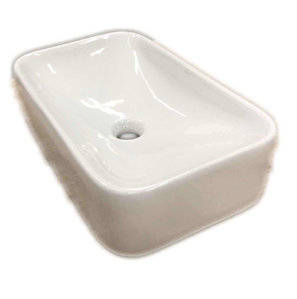 Kraus White Rectangular Ceramic Sink – KCV-122