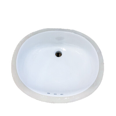 Western Works Undercounter Bathroom Lavatory - White