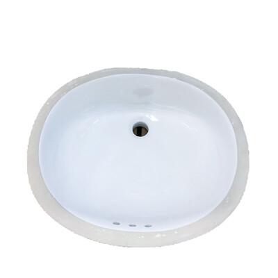 Western Works Undercounter Bathroom Sink White 169
