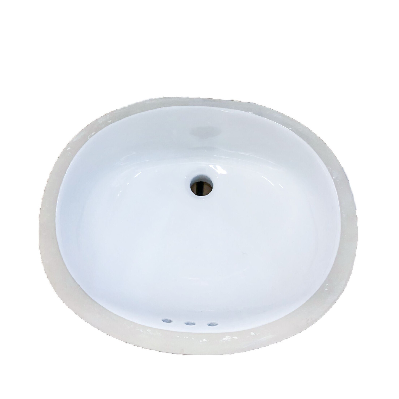 Western Works Undercounter Bathroom Lavatory - White 169