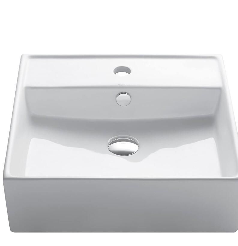 Kraus Square Vessel Bathroom Sink