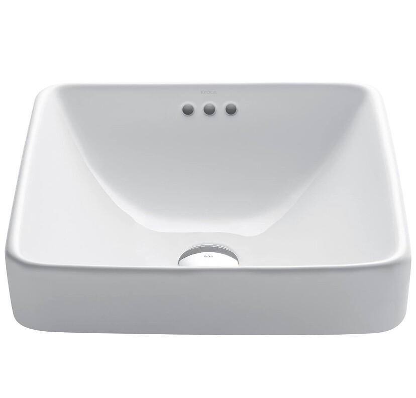 Kraus Square Ceramic Bathroom Sink