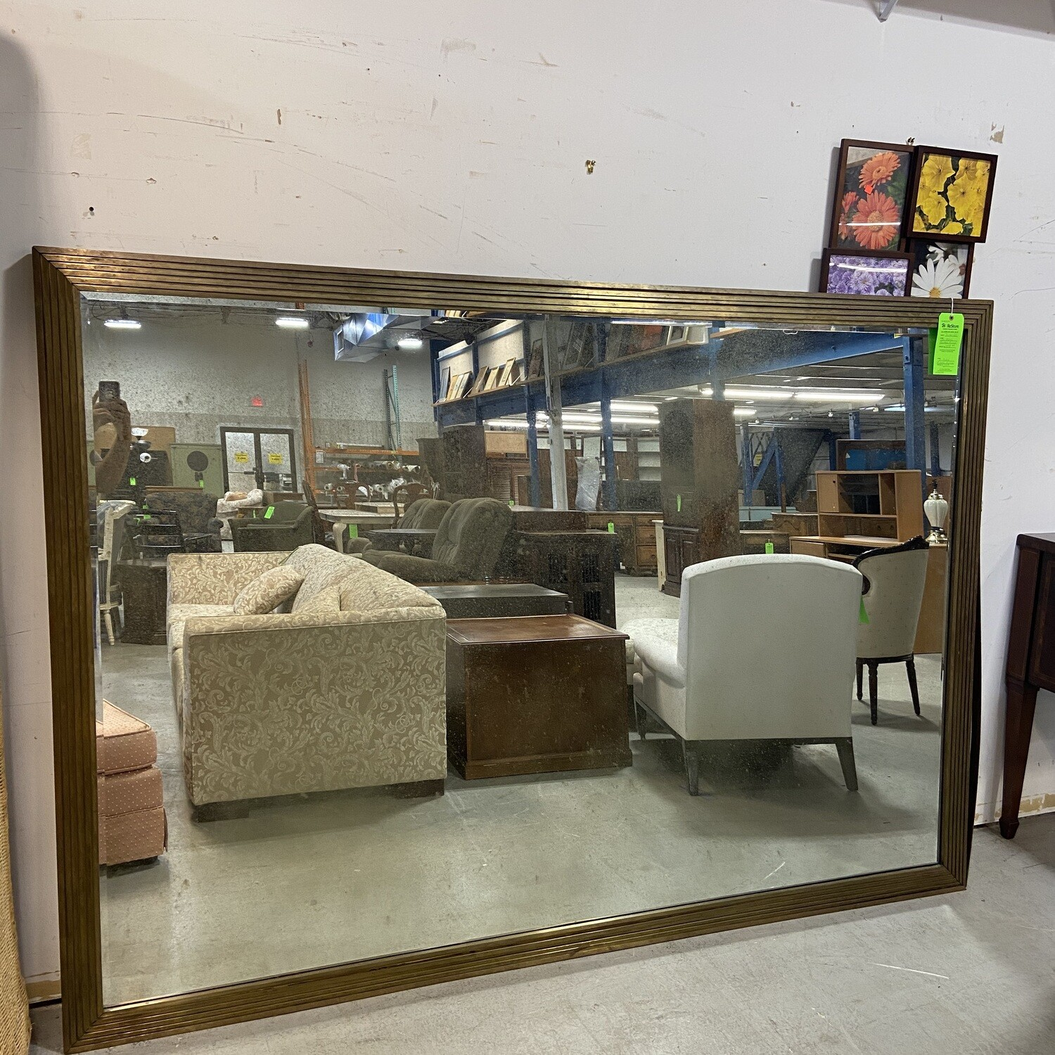 Extra Large Metal Framed Mirror
