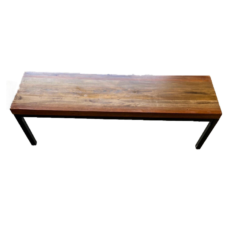 Wooden/Metal Bench