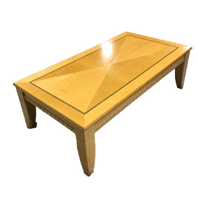 Light-Colored Wooden Coffee Table