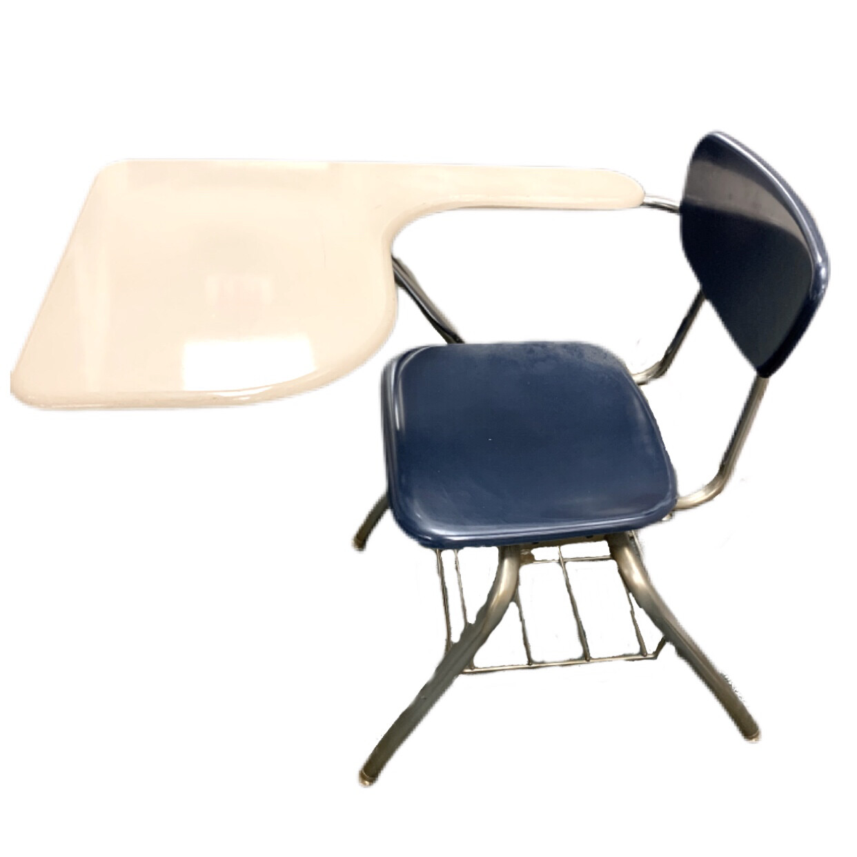Classic Metal School Desk with Chair