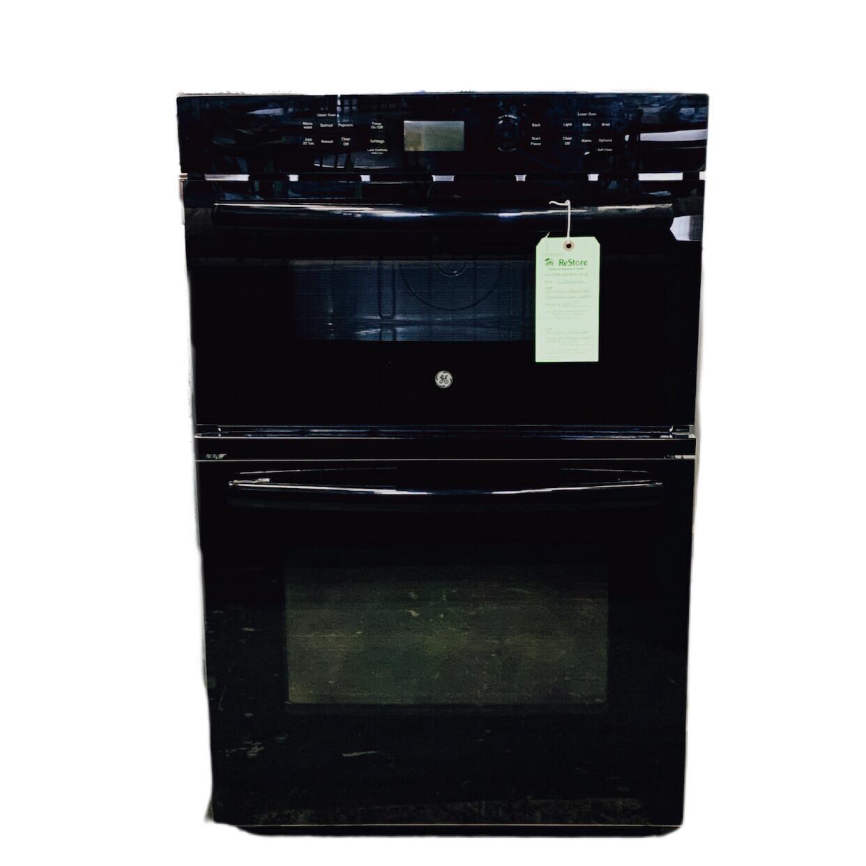 GE Profile Black Wall Oven Microwave Combo