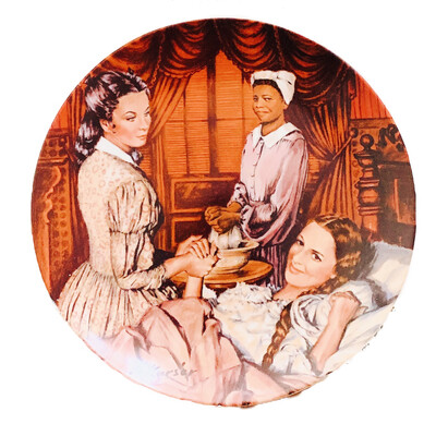 "Norman Rockwell  "" Melanie Gives Birth"" Collectors China"