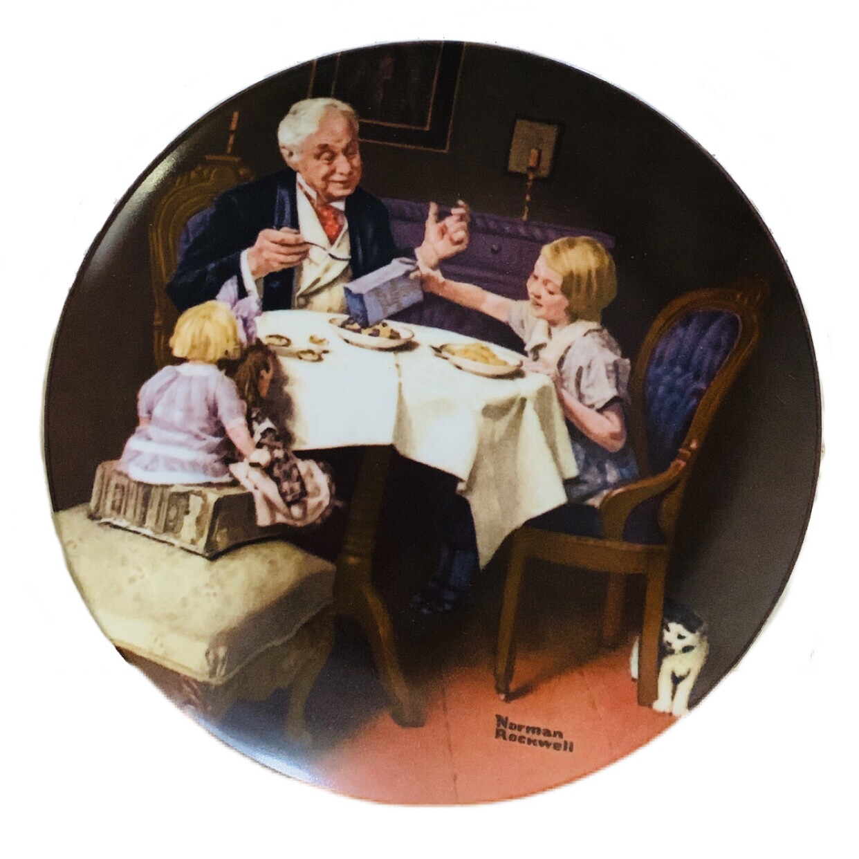 "Norman Rockwell  ""The Gourmet"" Collectors China"