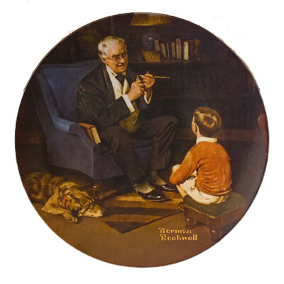 "Norman Rockwell  ""The Tycoon"" Collectors China"