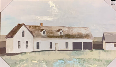 Barn Lanscape Canvas