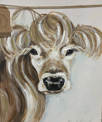 Lady Cow Canvas Art