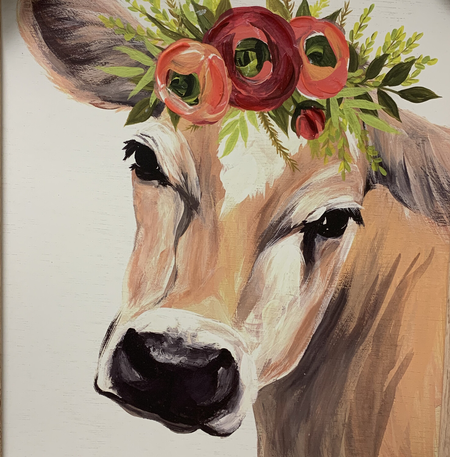 Spring Cow Framed Art