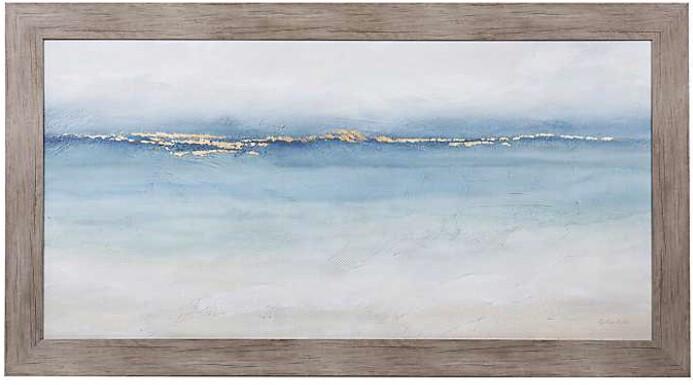 Painted Waves Framed Wood Art Print