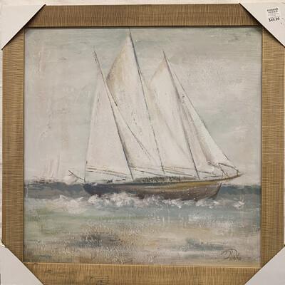 Cape Cod Sailboat Framed Art Print
