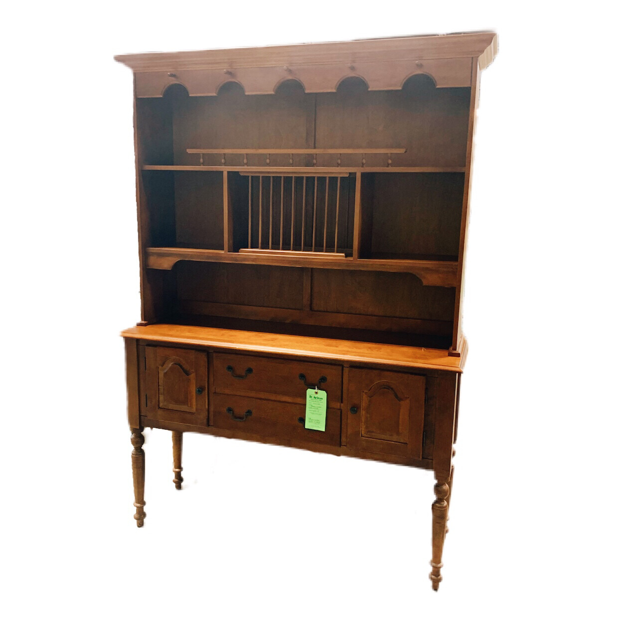 Brown Wooden Hutch With Desk