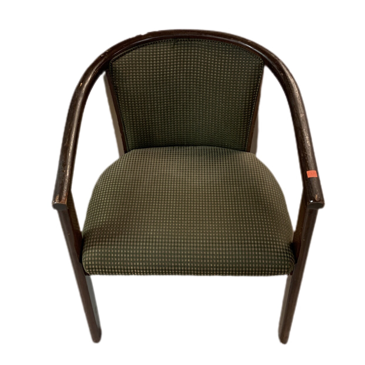 Wooden Frame Green Seat Chairs