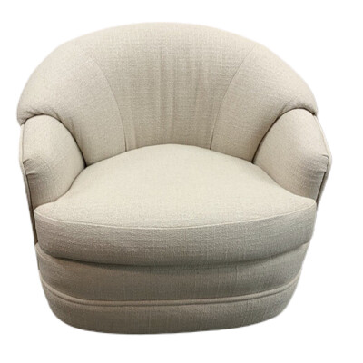 Cream Fabric Swivel Armchair