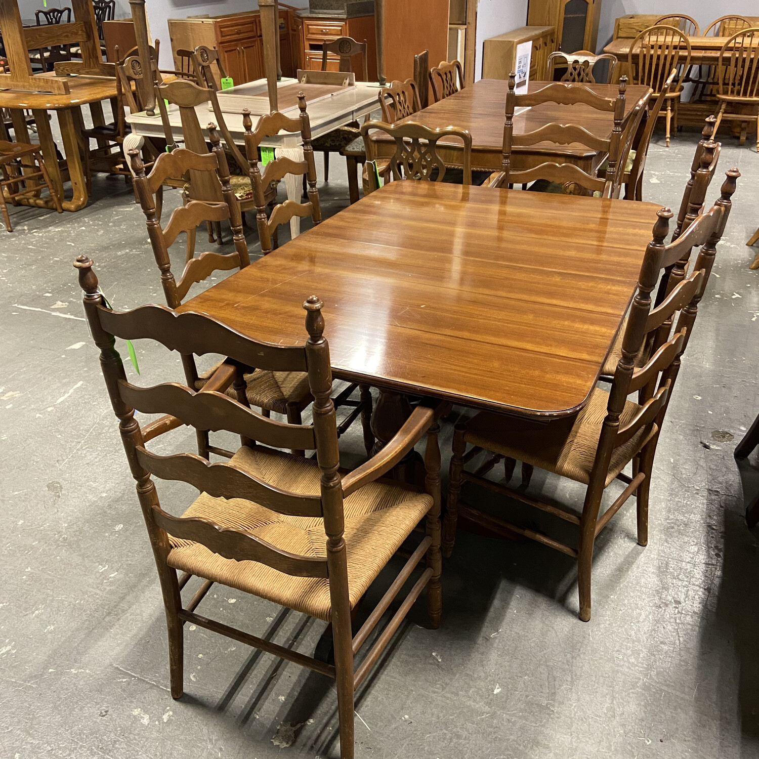Wooden Dining Set With 6 Chairs
