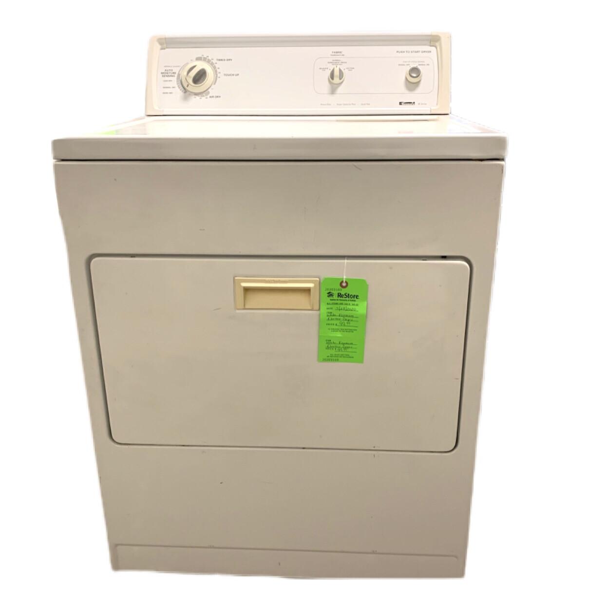 White Kenmore Eletric Dyer