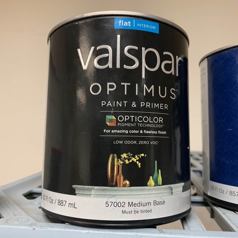 30 oz Valspar Paint & Primer Flat Medium Base 57002