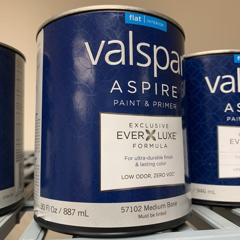 30 Oz Valspar Paint & Primer Flat Medium Base 57102