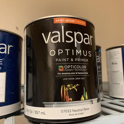 30 Oz Valspar Paint & Primer Neutral Semi Gloss  Base 57033