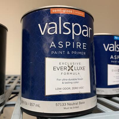 30 Oz Valspar Paint & Primer Semi-Gloss Neutral Base 57133