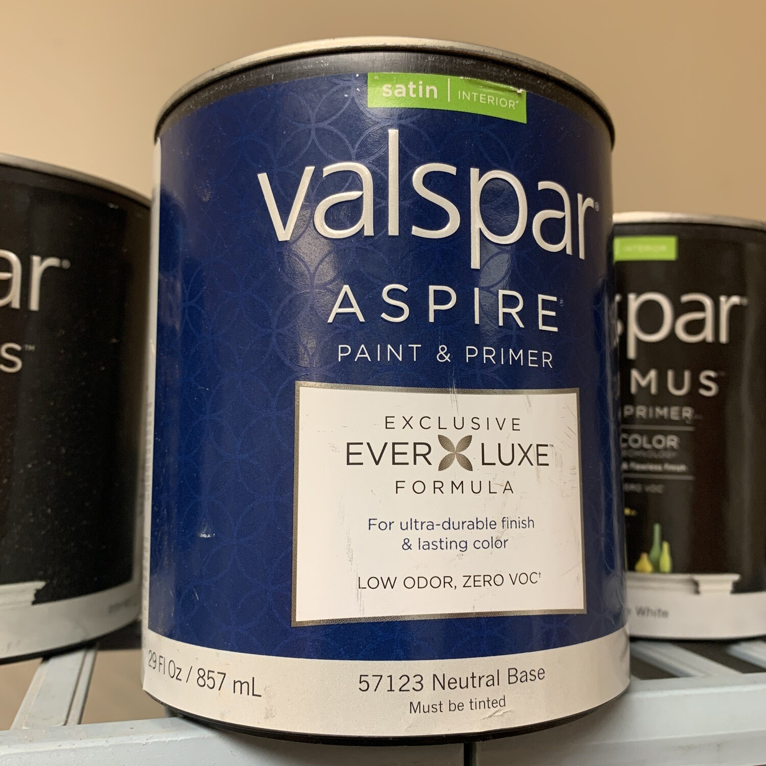 29 Oz Valspar Paint & Primer Satin Neutral Base 57123