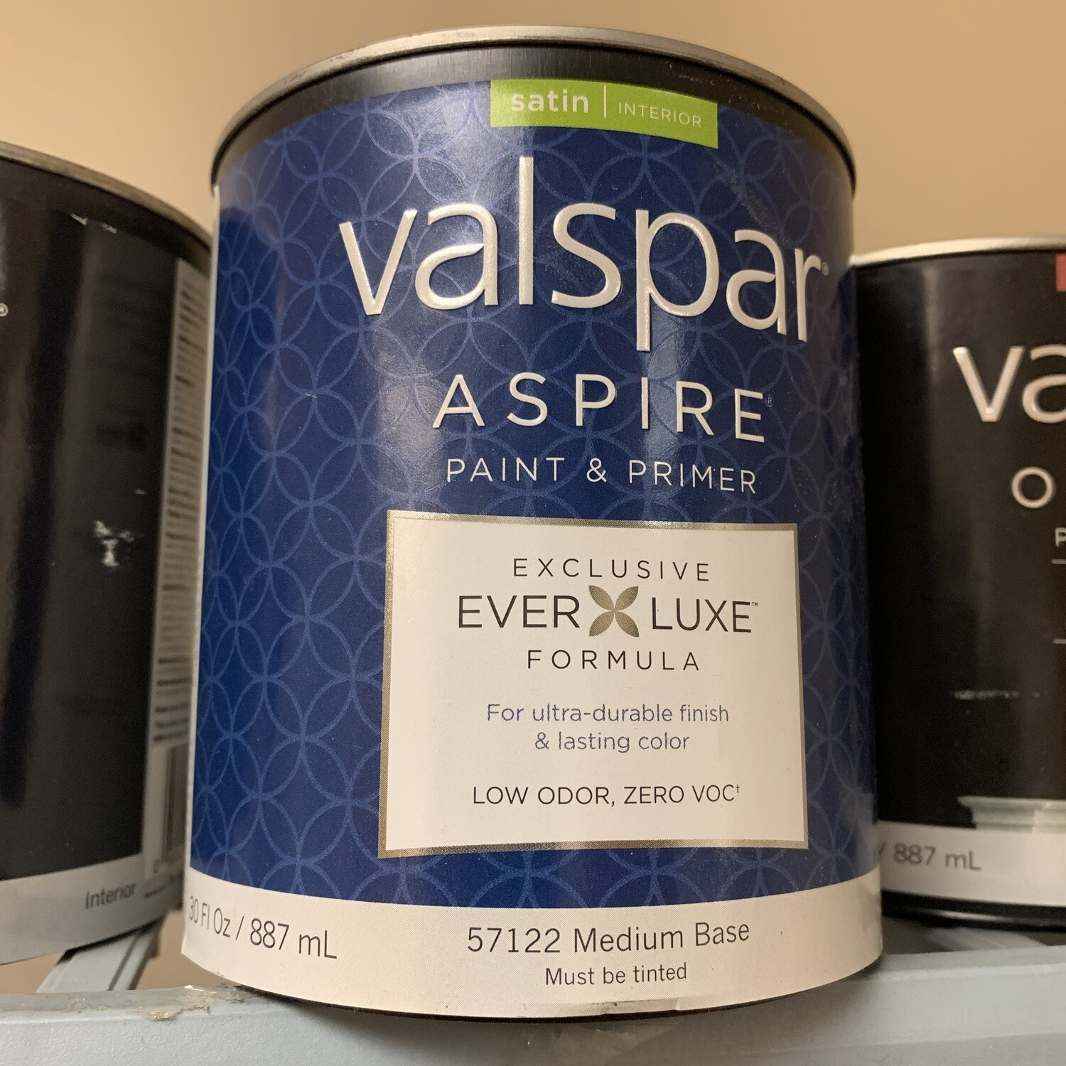 30 Oz Valspar Paint & Primer Satin Medium Base 57122