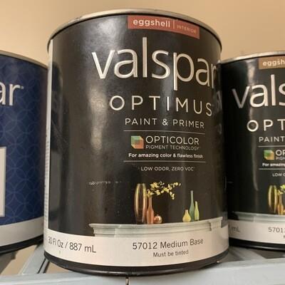 30 oz Valspar Paint & Primer Eggshell Med Base 57012