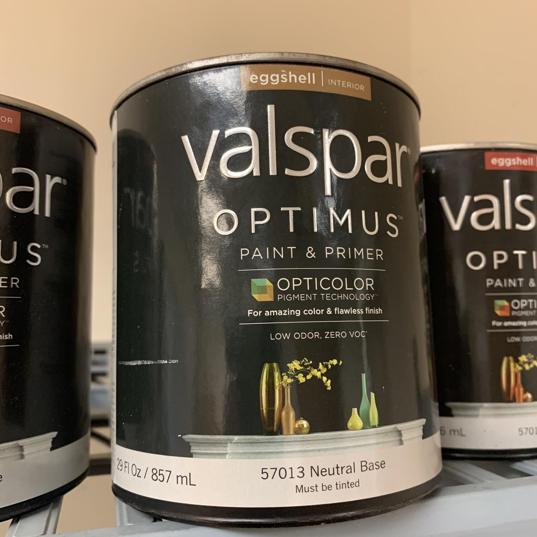 29 Oz Valspar Paint & Primer Eggshell Neutral Base 57013