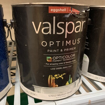 Qt Valspar Paint & Primer Eggshell White Base 57010