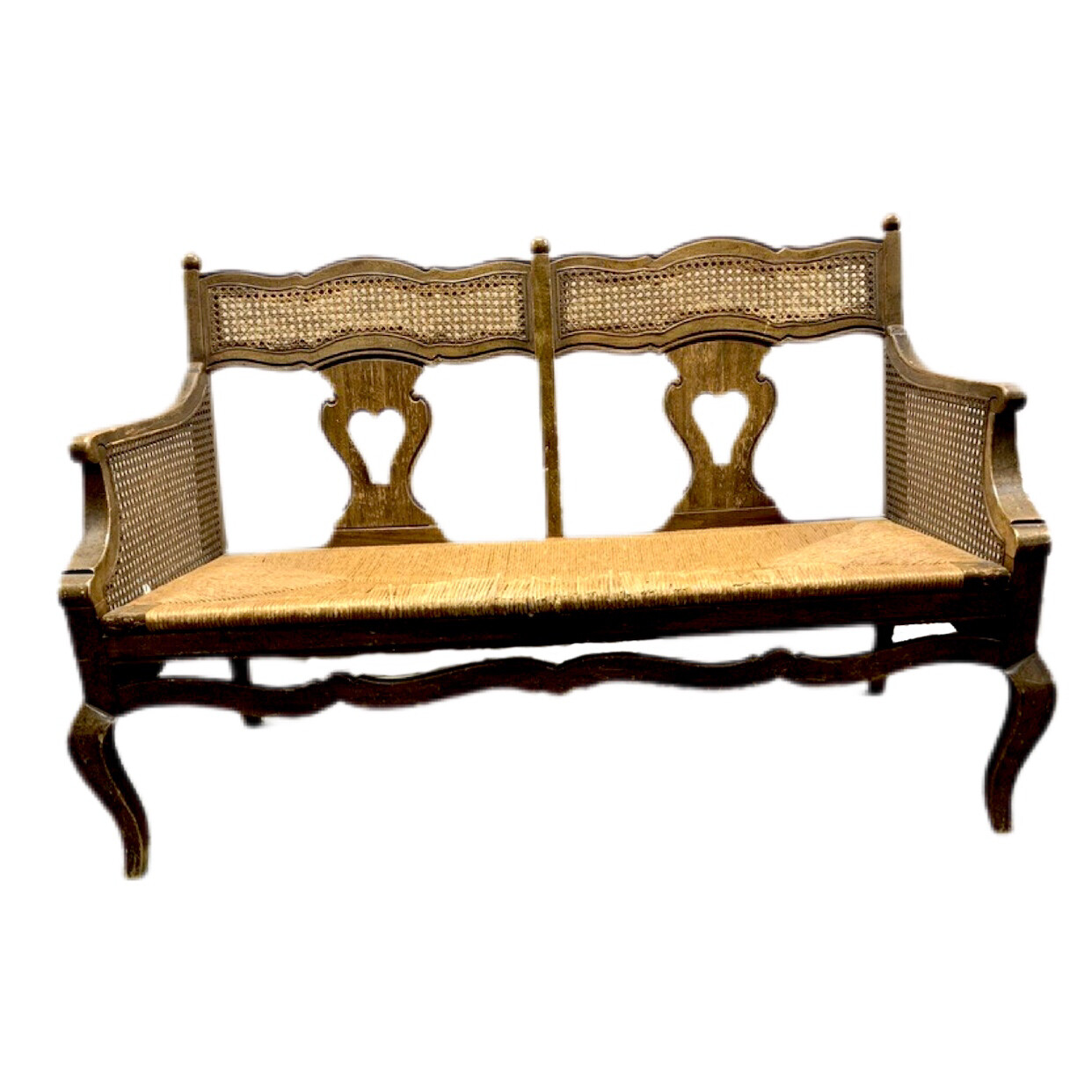 Antique 2 Seater Bench