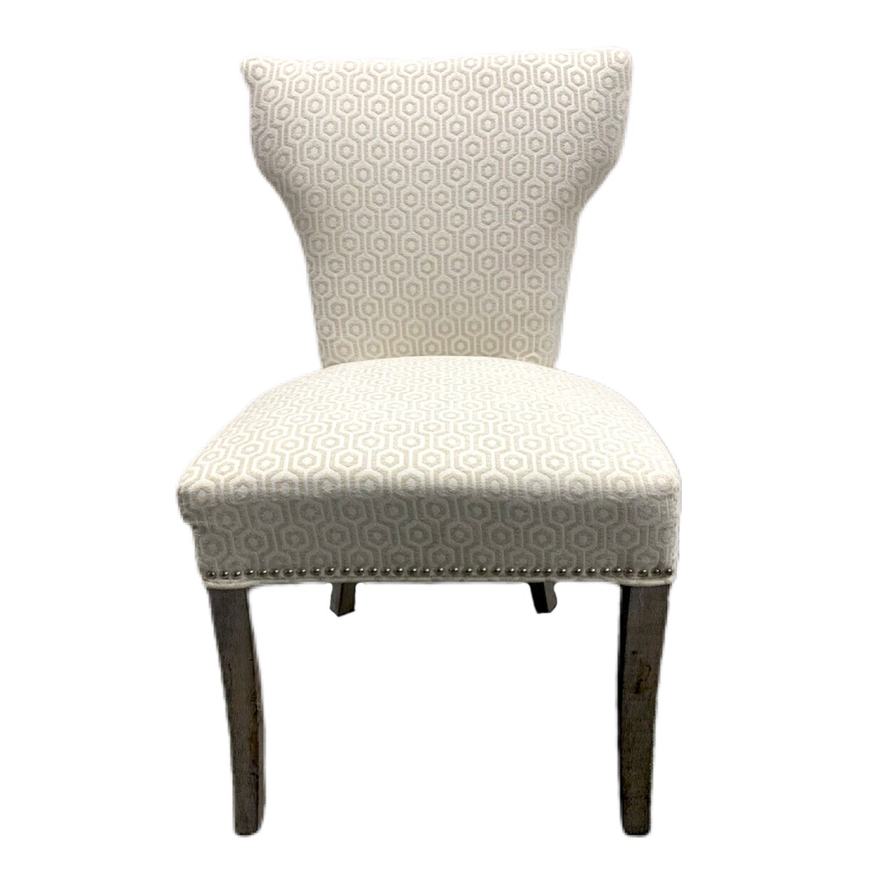 Cream Upholstered Side Chair