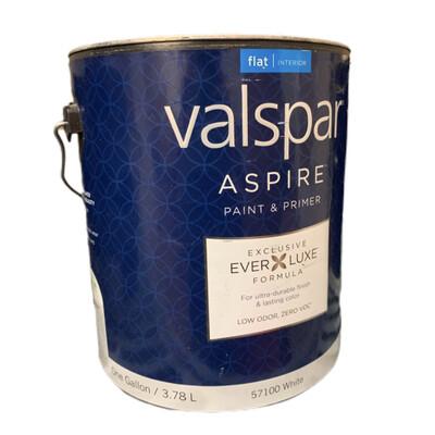 Gallon Valspar & Paint Flat White Base 57100
