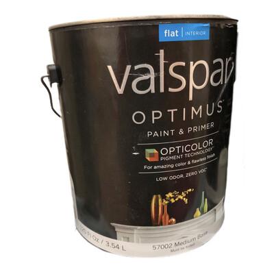 120 Oz Valspar Paint & Primer Flat Med Base 57002