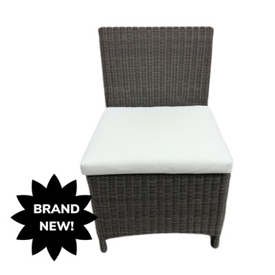 Outdoor Wicker Side  Chair With Cushion