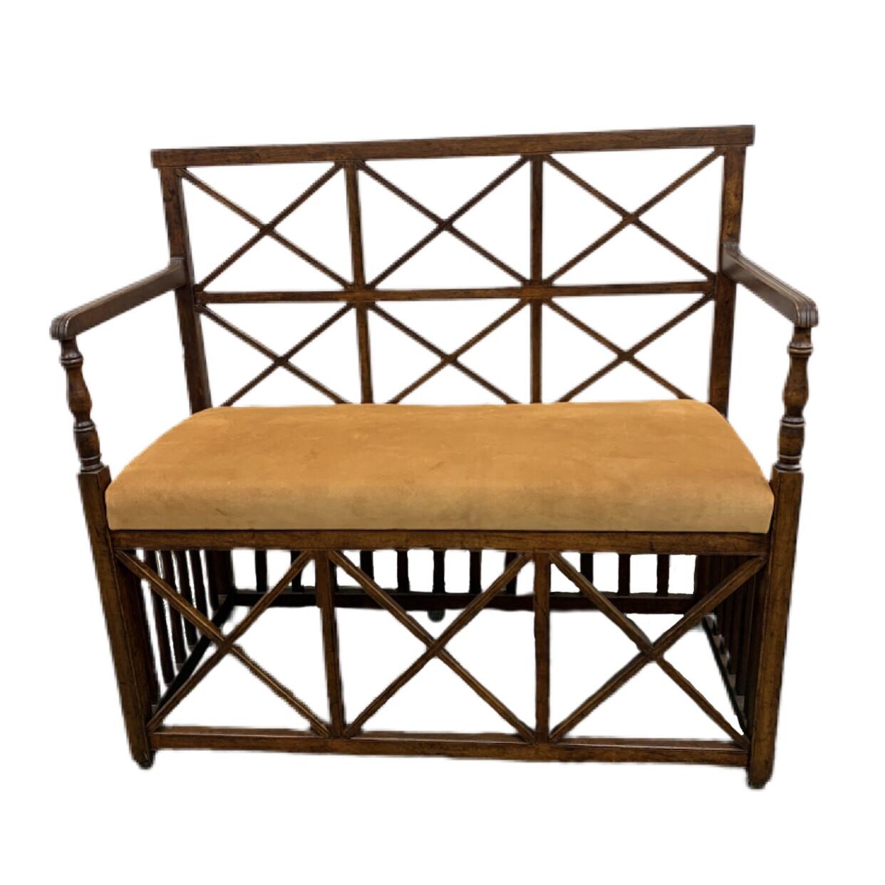 Genuine Suede 2 Seat Bench