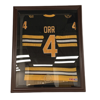 Bobby ORR Heroes of Hockey Jersey + Authentic Fanatic Bruins Frame