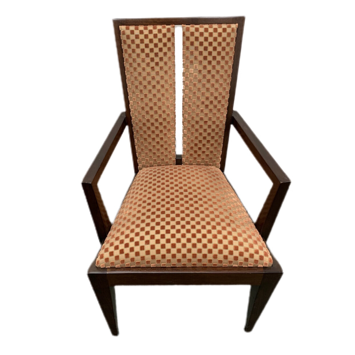 Burnt Orange Head Of Table Dining Chairs