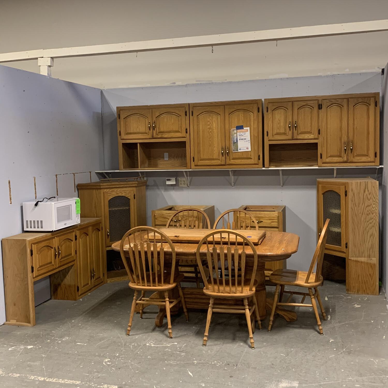 Oak Kitchen Cabinet Set
