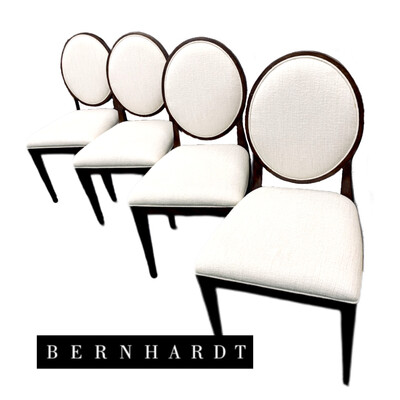 4 Oval Back Bernhardt Chairs