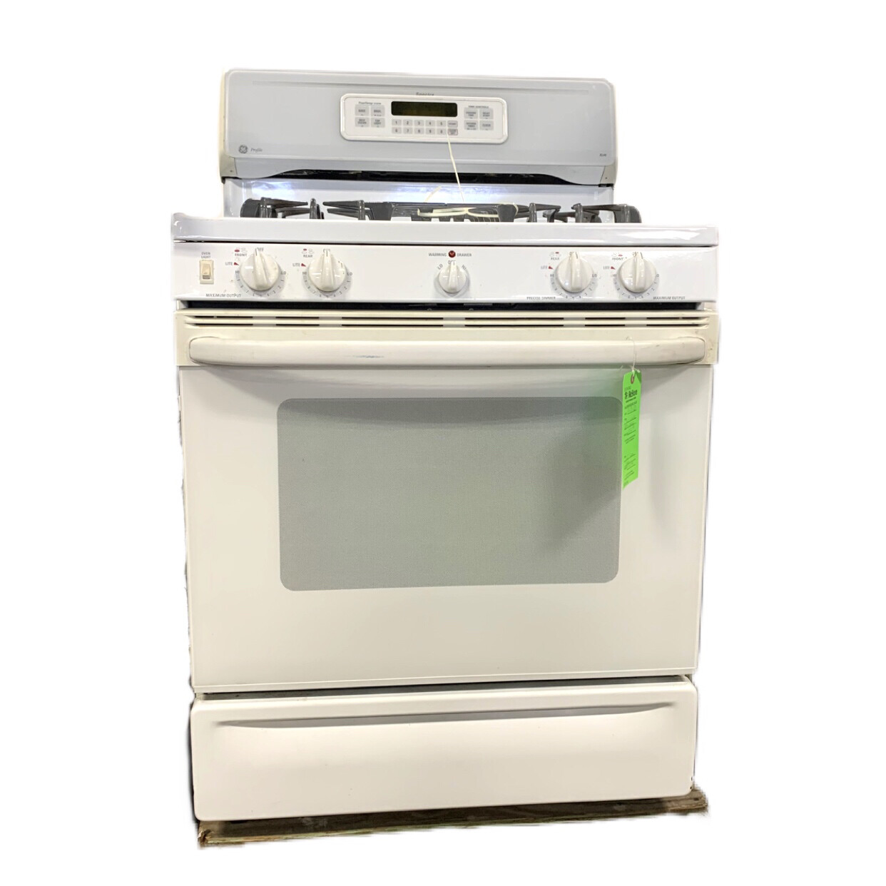 GE White Gas Oven