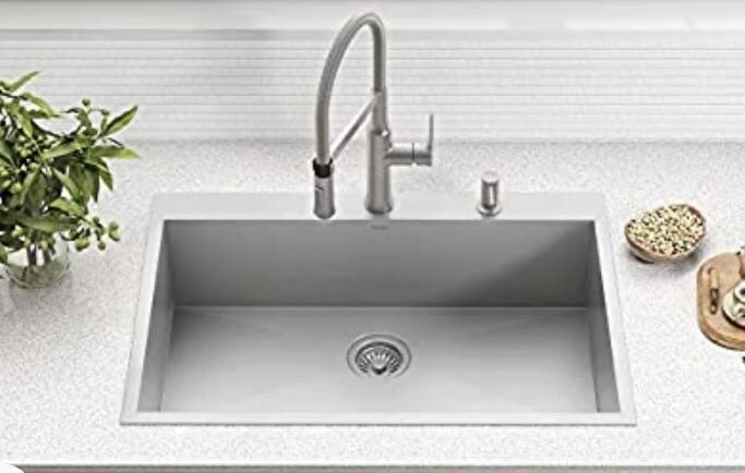 Kraus Kp-1TS33S-2 Top Mount Kitchen Sink