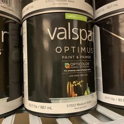 30 Oz Valspar Paint & Primer Satin Medium Base 57022