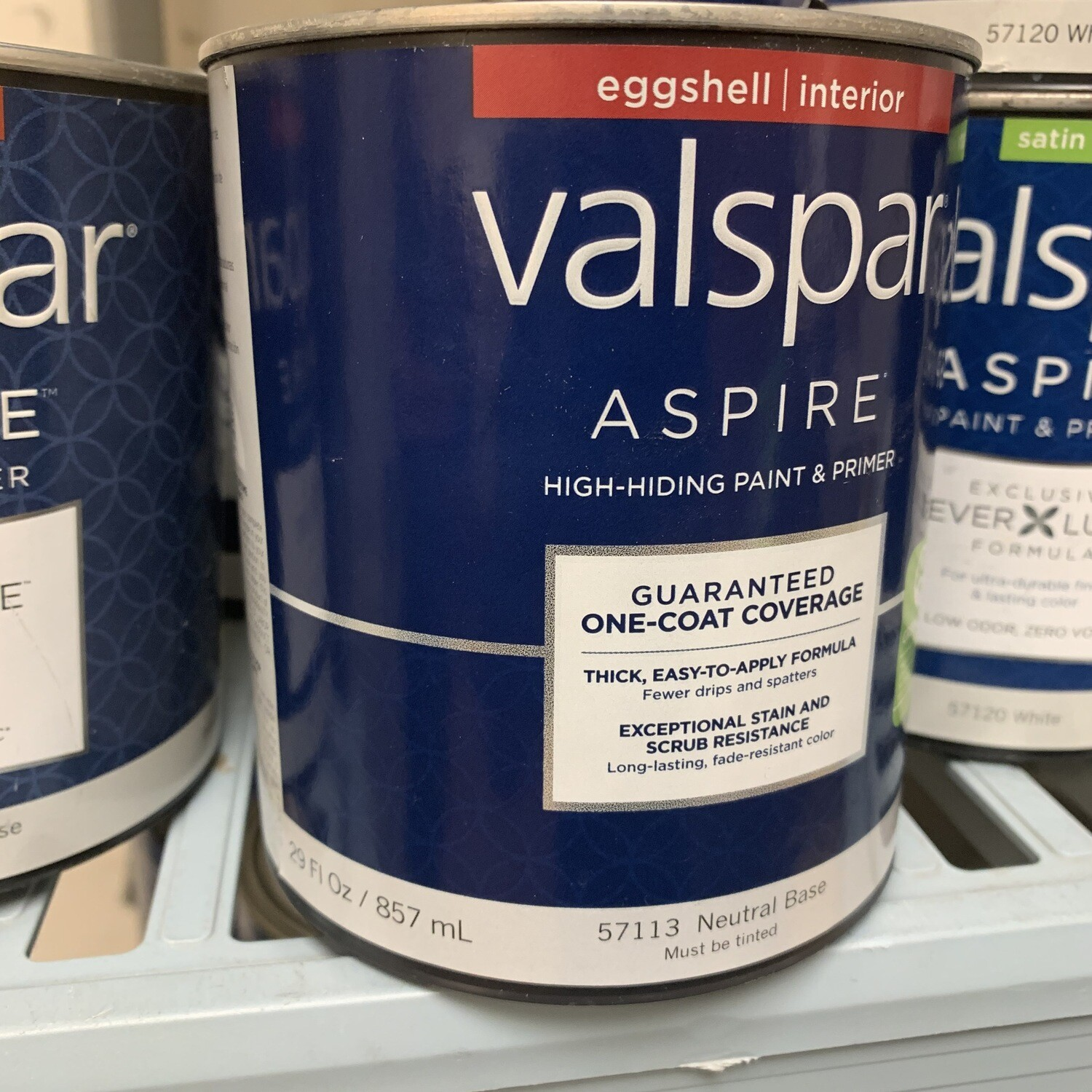 30 Oz Valspar Paint & Primer Eggshell Neutral Base 57113
