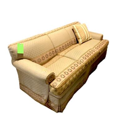 Decorative Peach Colored Sofa